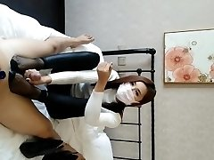 Chinese baoer foot wank handjob compilation (part one)