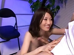 Ugly Asian babe with her small boobs tit fucks