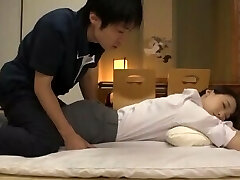 Giant ass Japanese Mother-in-law makes stepson got seduced by her