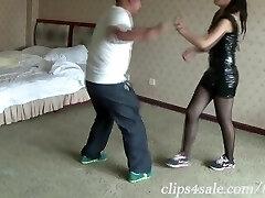 Asian girl ballbusting Martial arts neckbreak