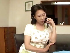 Asian Mom caught by stepson