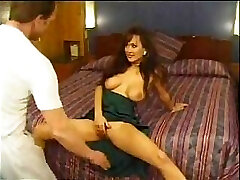 Asia Carrera and her monstrous boobies starring in a gonzo vintage vid