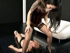 Mistress Dominat their Slave wiht urinate