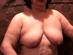 Asian BBW Granny Using Vibro