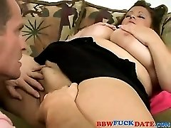Big fat Latina fucked by guy with small dick