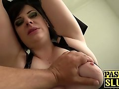 Plump mature lady Elouise Lust deepthroat and rough sex