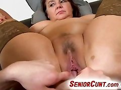 Big lady Eva aged snatch fingered and toyed pov zoom