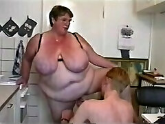 BBW Threesome #6 (Ginormous Granny & Two Young Guys)
