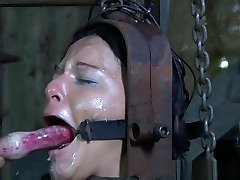Gimp slut caned before hardcore restrain