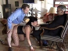 Slave is pounded while master watch