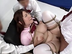Horny Asian girl in Amazing BDSM, Creampie JAV video