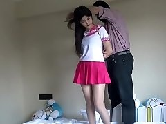 Asian Schoolgirl Tied Up