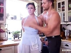 Submissive Mom and Teenage Get Dominated