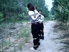3 Chinese Gals Playing In Bondage