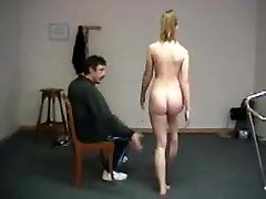 Humiliating naked exercises for teacher spanking shame