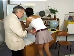 CMNF - Punished and spanked by her lecturer (vintage)