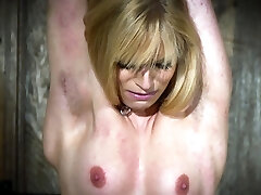 Super-fucking-hot blonde in submission gets tortured and loves it