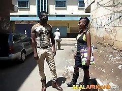 African Inexperienced Tramp Street Pickup and Toilet Fuck