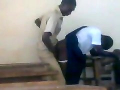 Teenage African college girls fucking doggstyle in class