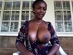 Amateur MILF Teasing Her Big Nipples and Joy Button