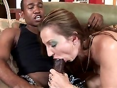 Amateur milf having interracial sex at home