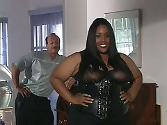 super hot big tits ebony fucks white dude.
