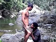 Ass-to-mouth fun in the jungles of South America
