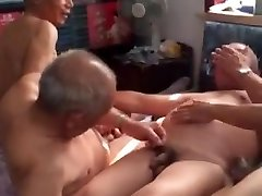 Four Asian elderly in a room
