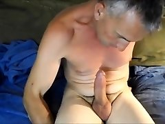 Huge Father Self Suck And Cum
