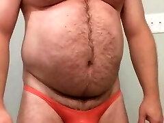 macpurc Milky underwear and peach poser