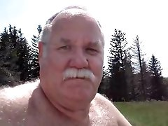 Daddy bear in park