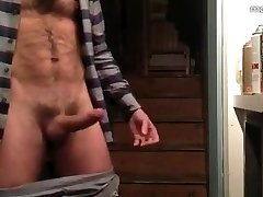 Hairy Hunk Jacks off & Cums