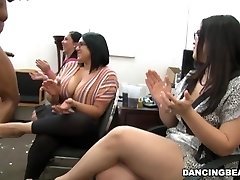 CFNM Office Party Pecker Blowout with Huge Dick Male Strippers (db9442)