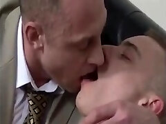 AGED suited BEARDED DADs engulfing RIM Pound youthful CHAPS booty