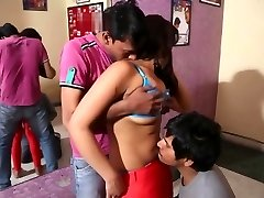 Desi dance college girl exploited by 2 guys