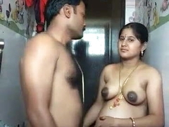 Indian Bhabhi In Bathroom