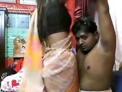 Couple drilling on live cam