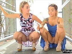 horny public UPSKIRT girls