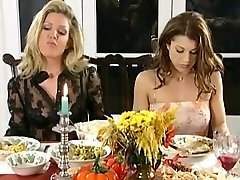 Girly-girl dinner and spanking party