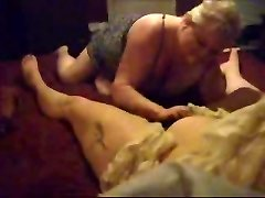 Hidden cam catches my obese all girl mom