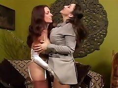 Nylon Sukat VS Sukkahousut - Fetissi lesbo dominointi