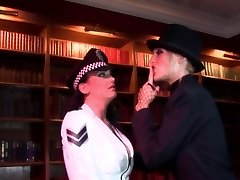 Radny bitch thrusts a stick in policewoman's ass-hole