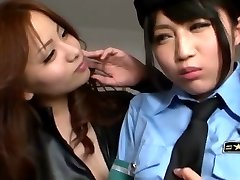 Japanese Girl-on-girl Seduced Officer