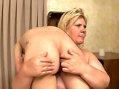 Plus-size breaks and humiliates weak hot blonde