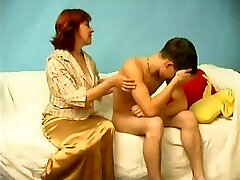Russian Mom Catches a Boy Milking WF