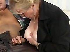 Grandma deep-throat and fuck