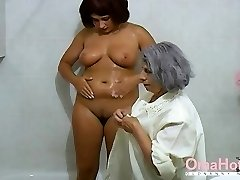 OmaHoteL Grandmother and Mature are Frolicking Together