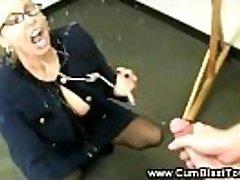 Horny schoolteacher has her students dick in her mature hatch