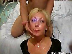 Milf Jade Swallows in Bj and Bukkake Video