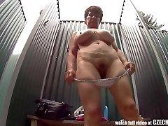 Mature Busty Damsel in Shower